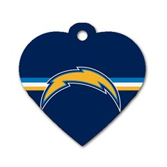 San Diego Chargers National Football League Nfl Teams Afc Dog Tag Heart (two Sided) by SportMart