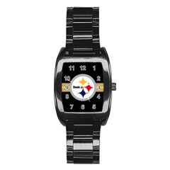 Pittsburgh Steelers National Football League Nfl Teams Afc Stainless Steel Barrel Watch by SportMart