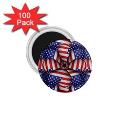 Modern Usa Flag Pattern 1 75  Button Magnet (100 Pack) by dflcprints