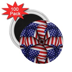 Modern Usa Flag Pattern 2 25  Button Magnet (100 Pack) by dflcprints