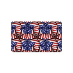 Modern Usa Flag Pattern Magnet (name Card) by dflcprints