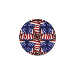 Modern Usa Flag Pattern Golf Ball Marker by dflcprints