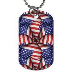 Modern Usa Flag Pattern Dog Tag (two Sided)  by dflcprints