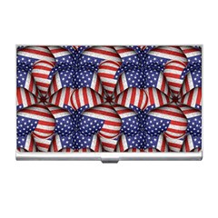 Modern Usa Flag Pattern Business Card Holder by dflcprints