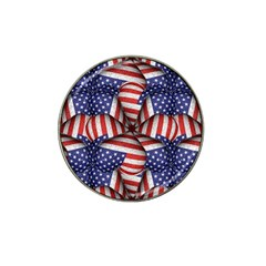 Modern Usa Flag Pattern Golf Ball Marker (for Hat Clip) by dflcprints