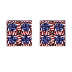 Modern Usa Flag Pattern Cufflinks (square) by dflcprints