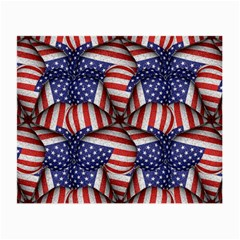 Modern Usa Flag Pattern Glasses Cloth (small, Two Sided) by dflcprints