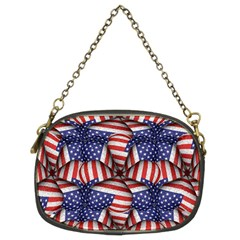 Modern Usa Flag Pattern Chain Purse (two Sided)  by dflcprints