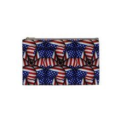 Modern Usa Flag Pattern Cosmetic Bag (small) by dflcprints