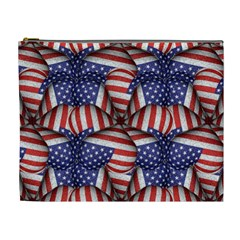 Modern Usa Flag Pattern Cosmetic Bag (xl) by dflcprints