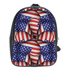 Modern Usa Flag Pattern School Bag (large) by dflcprints
