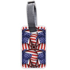 Modern Usa Flag Pattern Luggage Tag (two Sides) by dflcprints