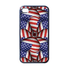 Modern Usa Flag Pattern Apple Iphone 4 Case (black) by dflcprints