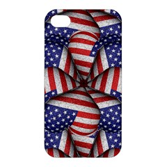 Modern Usa Flag Pattern Apple Iphone 4/4s Hardshell Case by dflcprints