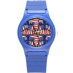 Modern Usa Flag Pattern Plastic Sport Watch (small) by dflcprints