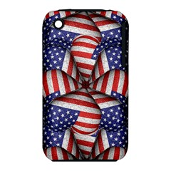 Modern Usa Flag Pattern Apple Iphone 3g/3gs Hardshell Case (pc+silicone) by dflcprints