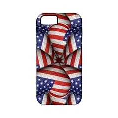 Modern Usa Flag Pattern Apple Iphone 5 Classic Hardshell Case (pc+silicone) by dflcprints