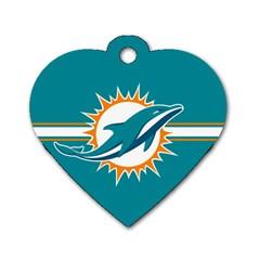 Miami Dolphins National Football League Nfl Teams Afc Dog Tag Heart (one Sided)  by SportMart