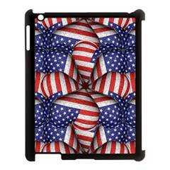 Modern Usa Flag Pattern Apple Ipad 3/4 Case (black) by dflcprints