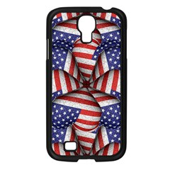 Modern Usa Flag Pattern Samsung Galaxy S4 I9500/ I9505 Case (black) by dflcprints