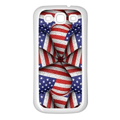 Modern Usa Flag Pattern Samsung Galaxy S3 Back Case (white) by dflcprints