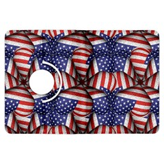 Modern Usa Flag Pattern Kindle Fire Hdx Flip 360 Case by dflcprints