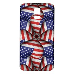 Modern Usa Flag Pattern Samsung Galaxy S5 Back Case (White) by dflcprints