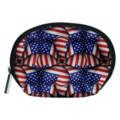 Modern Usa Flag Pattern Accessory Pouch (medium) by dflcprints