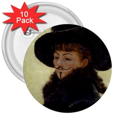 Kathleen Anonymous Ipad 3  Button (10 Pack) by AnonMart