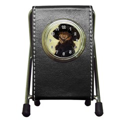 Kathleen Anonymous Ipad Stationery Holder Clock by AnonMart