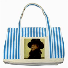 Kathleen Anonymous Ipad Blue Striped Tote Bag by AnonMart