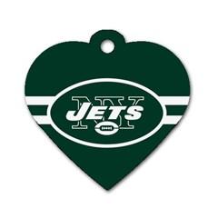 New York Jets National Football League Nfl Teams Afc Dog Tag Heart (one Sided)  by SportMart