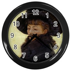 Kathleen Anonymous   James Tissot, 1877 Wall Clock (black) by AnonMart