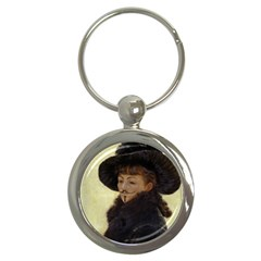 Kathleen Anonymous - James Tissot, 1877 Key Chain (Round) by AnonMart