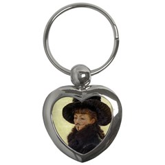 Kathleen Anonymous   James Tissot, 1877 Key Chain (heart) by AnonMart