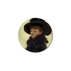 Kathleen Anonymous   James Tissot, 1877 Golf Ball Marker (4 Pack) by AnonMart