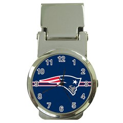 New England Patriots National Football League Nfl Teams Afc Money Clip With Watch by SportMart