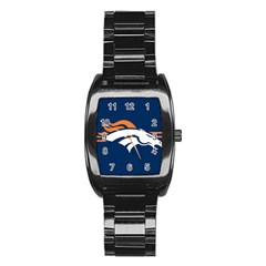Denver Broncos National Football League Nfl Teams Afc Stainless Steel Barrel Watch by SportMart