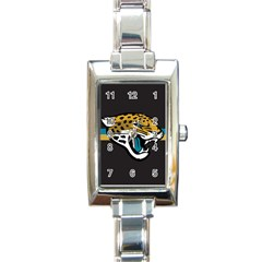 Jacksonville Jaguars National Football League Nfl Teams Afc Rectangular Italian Charm Watch by SportMart