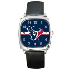 Houston Texans National Football League Nfl Teams Afc Square Leather Watch by SportMart
