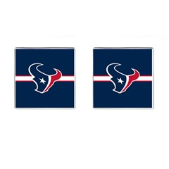 Houston Texans National Football League Nfl Teams Afc Cufflinks (square) by SportMart