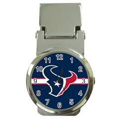 Houston Texans National Football League Nfl Teams Afc Money Clip With Watch by SportMart