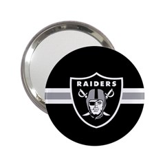 Oakland Raiders National Football League Nfl Teams Afc Handbag Mirror (2 25 ) by SportMart