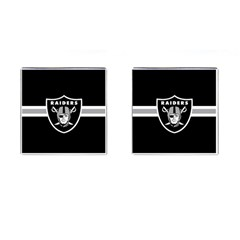 Oakland Raiders National Football League Nfl Teams Afc Cufflinks (square) by SportMart