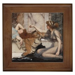 Godwardmischiefandanonipad Framed Ceramic Tile by AnonMart