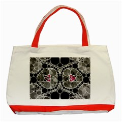 Bling Black Grey  Classic Tote Bag (red) by OCDesignss