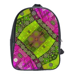 Florescent Pink Green  School Bag (large) by OCDesignss