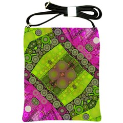 Florescent Pink Green  Shoulder Sling Bag by OCDesignss
