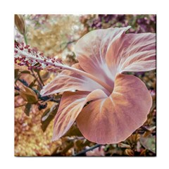 Fantasy Colors Hibiscus Flower Digital Photography Ceramic Tile by dflcprints