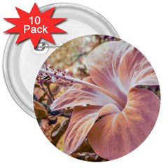 Fantasy Colors Hibiscus Flower Digital Photography 3  Button (10 Pack) by dflcprints